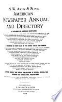 N W  Ayer and Son s American Newspaper Annual and Directory