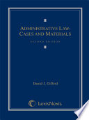 Administrative Law  Cases and Materials