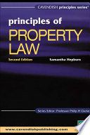 Australian Principles of Property Law