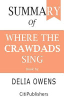 Summary of Where the Crawdads Sing - Book by Delia Owens Pdf/ePub eBook