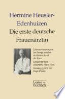 Die erste deutsche Frauen  rztin Lebenserinnerungen