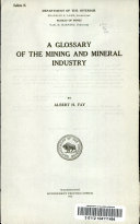 Ebook A glossary of the mining and mineral industry Epub Albert Hill Fay Apps Read Mobile