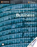 Cambridge International AS and A Level Business Coursebook with CD ROM