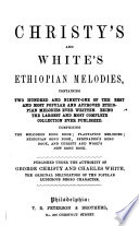 Christy S And White S Ethiopian Melodies book
