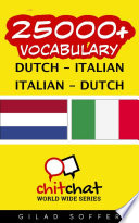 25000  Dutch   Italian Italian   Dutch Vocabulary