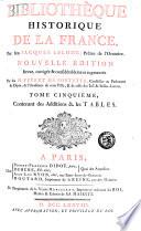 Biblioth  que historique de la France