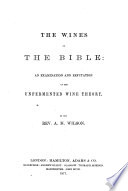 The Wines of the Bible