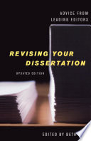Revising Your Dissertation