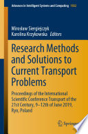 Research Methods and Solutions to Current Transport Problems
