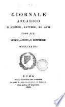 giornale arcadico di science lettere ed arti