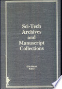 Sci-tech Archives and Manuscript Collections