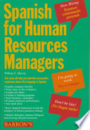 Spanish for Human Resources Managers