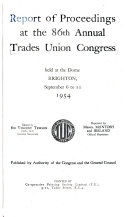 Report of Proceedings at the Annual Trades Union Congress