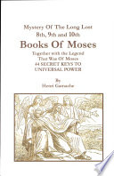 Eighth  Ninth  Tenth Books of Moses