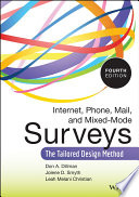 Internet  Phone  Mail  and Mixed Mode Surveys