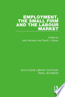 Employment  the Small Firm and the Labour Market