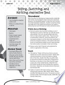 Writing Lesson Level 1  Tell  Sketch  and Write Narrative Text