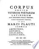 Di Marco Plauto Le Commedie Amfitruone  Asinaria  Pentolaria  Cistellaria