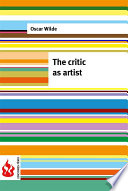The critic as artist  low cost   Limited edition