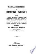 Manuale eclettico dei rimedj nuovi (etc.)