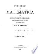 Periodico di matematica per l insegnamento secondario