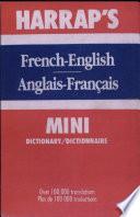 French english Anglias francais Mini Dictionary