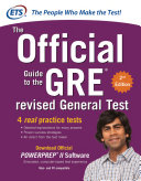 GRE The Official Guide to the Revised General Test with CD ROM  Second Edition