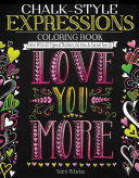 Chalk Style Expressions Coloring Book
