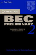 Cambridge BEC Preliminary 2 Cassette