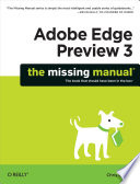 Adobe Edge Preview 3  The Missing Manual