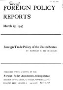 Foreign Policy Reports