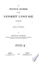 A Practical Grammar of the Sanskrit Language
