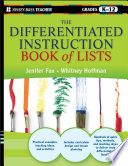 The Differentiated Instruction Book of Lists Free download PDF and Read online