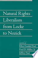 Natural Rights Liberalism from Locke to Nozick  Volume 22