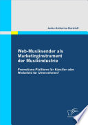 Web Musiksender Als Marketinginstrument Der Musikindustrie