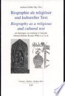 Biographie als religiöser und kultureller Text