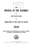 The Journal of the Assembly