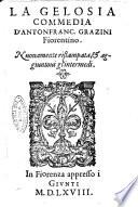 La gelosia commedia d Antonfranc  Grazini fiorentino