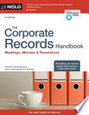 The Corporate Records Handbook