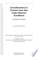 Considerations in Contact Lens Use Under Adverse Conditions