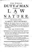download ebook the whole duty of man according to the law of nature ... now made english. the fifth edition with the notes of mr. barbeyrac, and many other additions and amendments ... by andrew tooke pdf epub