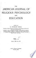 The American Journal of Religious Psychology and Education Book PDF
