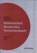 Historisches deutsches Vornamenbuch: F-K