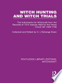 Witch Hunting and Witch Trials  RLE Witchcraft