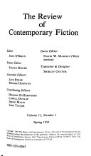 Review of Contemporary Fiction