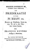 Noodige Opwekking In Tyden Van Verval Of Predikaatsi Over Ps Xxxiv 12