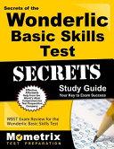 Secrets of the Wonderlic Basic Skills Test Study Guide