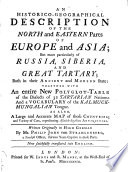 An Historico-geographical Description of the North and Eastern Parts of Europe and Asia