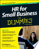 HR For Small Business For Dummies   Australia
