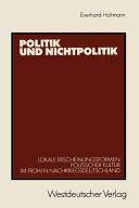 Politik und Nichtpolitik